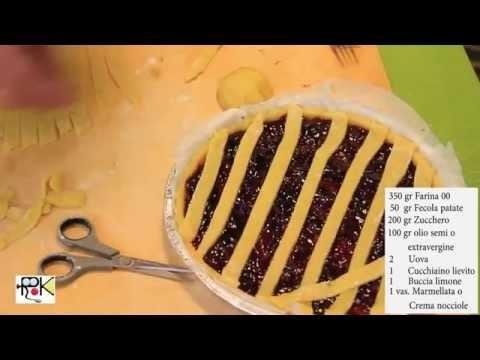 Crostata con marmellata senza burro con il Bimby