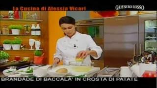 TIMBALLETTO DI BACCALA IN CROSTA DI PATATE RICETTA ALESSIA VICARI