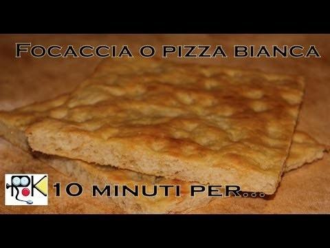 Ricetta Focaccia o Pizza bianca con bimby