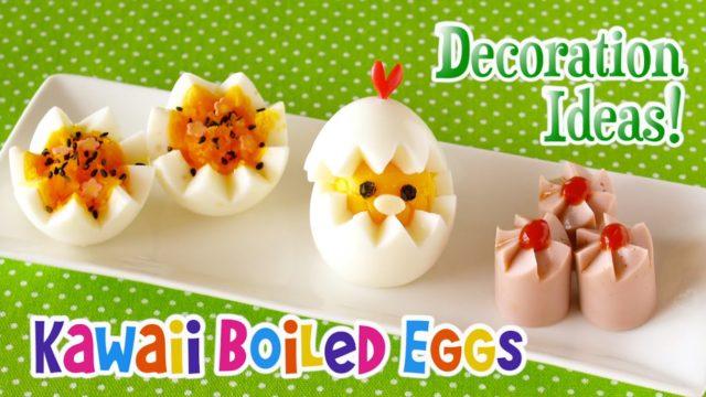 Uova sode decorate giapponesi