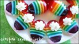 Uova di pasqua di gelatina colorata