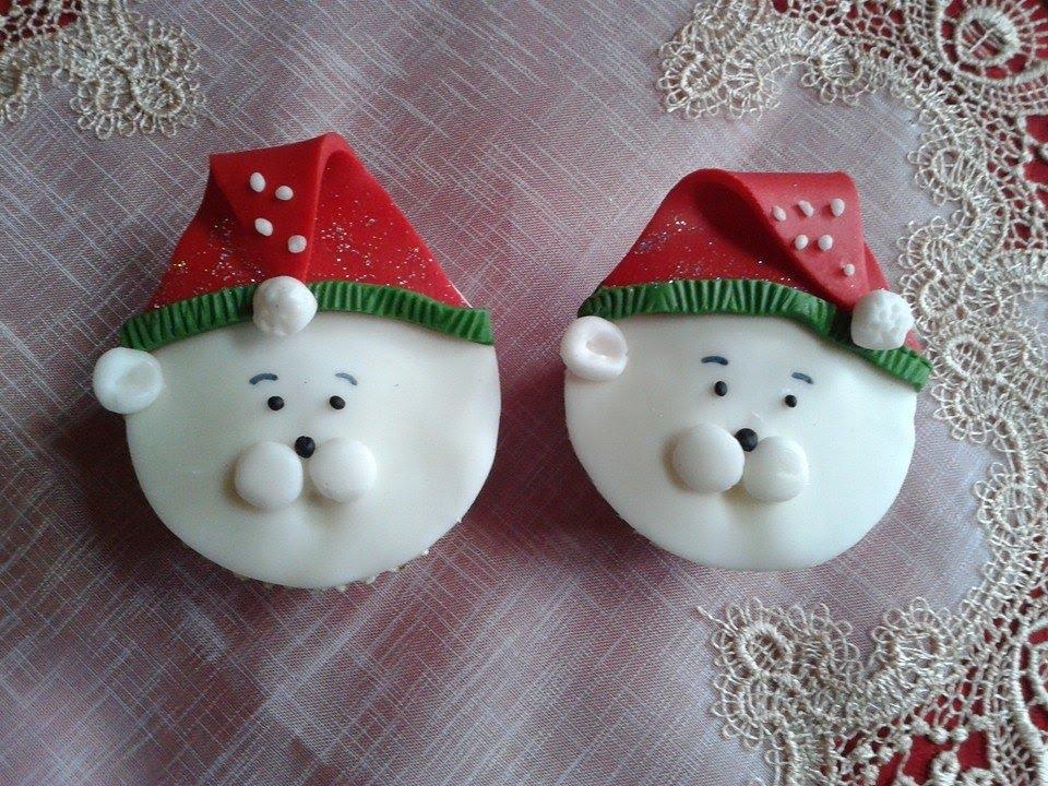 Cupcakes natalizi orso polare