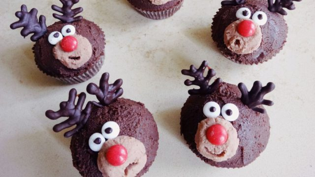 Cupcakes natalizi renna